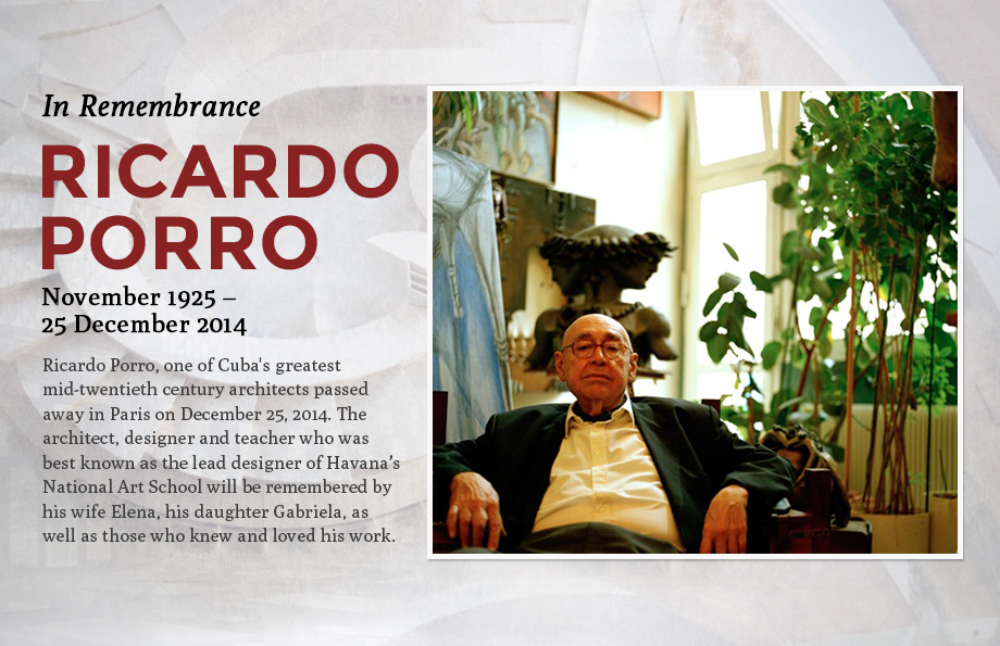 In Remembrance: Ricardo Porro